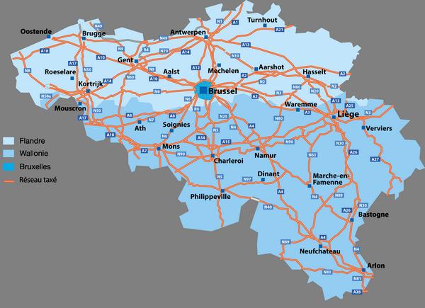 карта дорог Бельгии